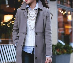 J.Crew Lady Day Coat Taupe/Wet cobblestone